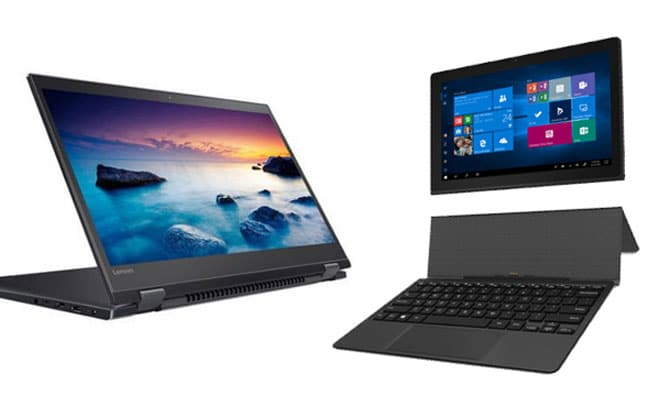 bendable and detachable type for 2 in 1 laptops