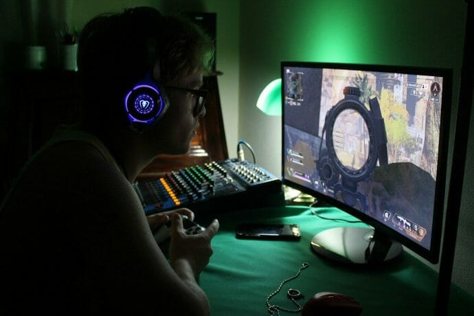 a person playing a game