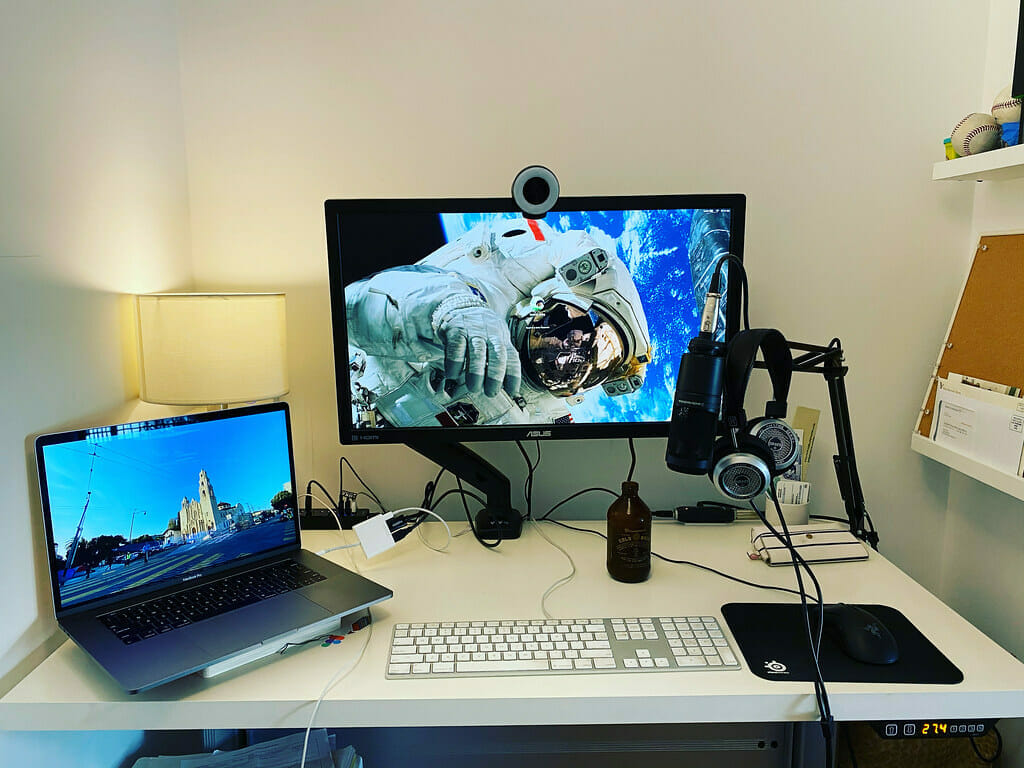 streaming equipment on the table